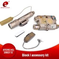 Элемент страйкбол фонарик SF PEQ LA 5C блок II ИК и зеленый лазерный тактический свет комбо с дистанционным светом задний переключатель EX424 Горяч