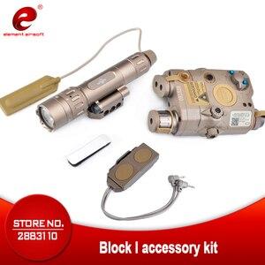 Image 1 - Element Airsoft PEQ тактический фонарь вспышка светильник IR зеленый лазерный прицел Airsoft Светильник ИК WMX200 инфракрасный пистолет вспышки светильник Книги об оружии светильник PEQ15 EX424