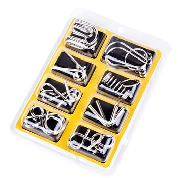 Puzzle metalowe pierścień rozwiązanie zabawki dla dzieci IQ gra dla dzieci dorosłych łamigłówka serię dziewięciu pierścień rozwiązanie wczesne zabawki edukacyjne dla dzieci tanie i dobre opinie smilewill 12-15 lat Dorośli 3 lat 5-7 lat 6 lat 13-24 miesięcy 2-4 lat 3 lat 8 lat 8-11 lat T00826 Unisex nine ring solution