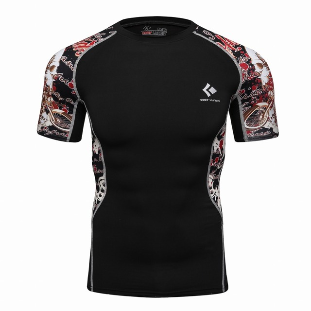 58495149 Cody Lundin Custom Printed Bjj Rash Guard Sublimated Compression 3d Shirt  Polyester and Spandex Bodybuilding Crossfit t-shirt