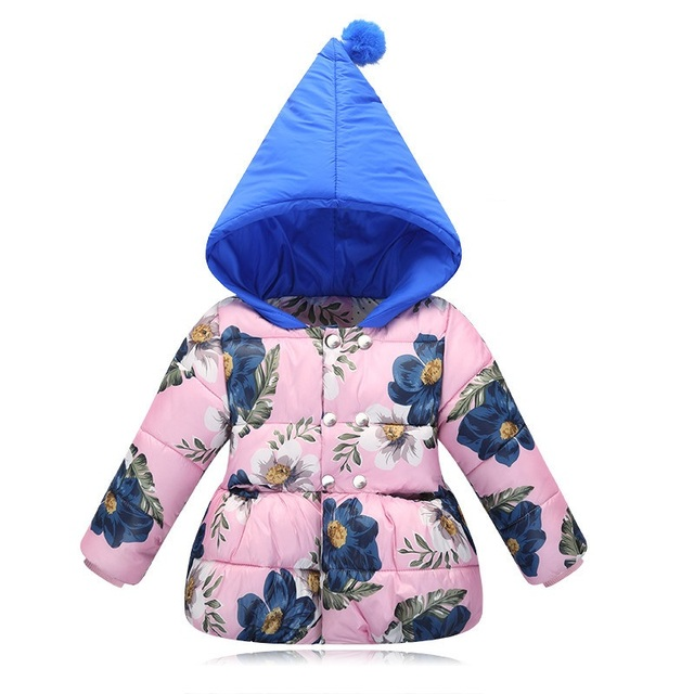 Baby Girls Jacket Children Outerwear Coat 3D Print Girls Jacket For Boys Clothes 2017 Winter Infant Boy Coat Jacket Kids