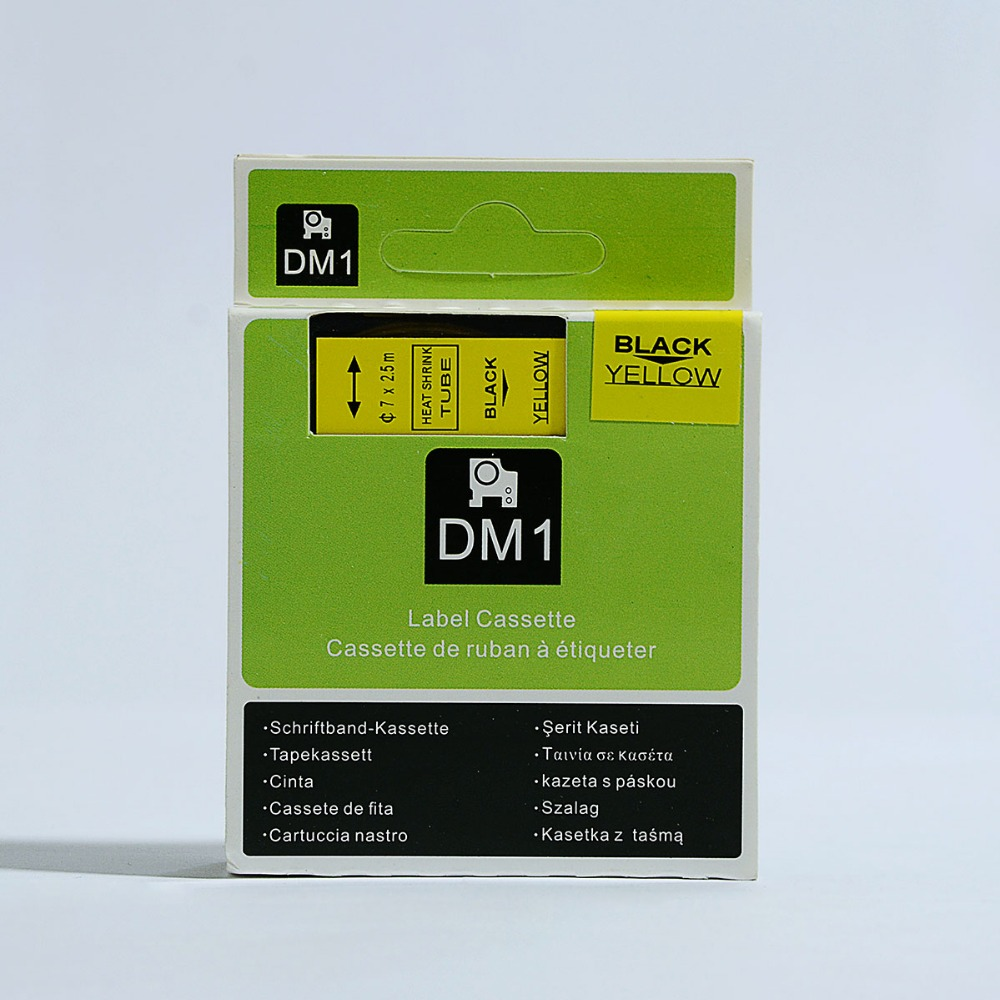 10pcs Black on white compatible Dymo Rhino 6mm*2.5M 18051 heat shrink tubes RS3.5W