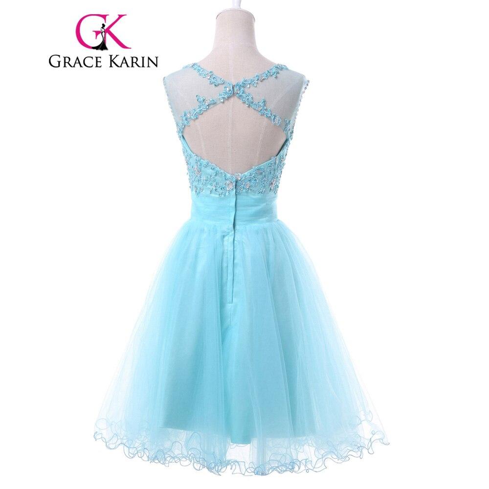 Grace Karin Backless Short Prom Dresses 2017 Tulle Knee Length ...