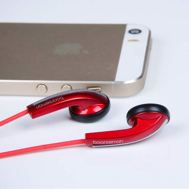 New Boarseman K49 Hifi In Ear Earphone 3.5MM High Qaulity Flat Head Earbuds In Ear Headset Dynamic Earbuds