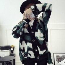 Kesebi 2017 Autumn Winter New Vogue Ladies Informal Lengthy Sleeve Thick Sweaters Feminine Korean College students V-neck Heat Knit Cardigans