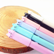 1pcs/lot Stabilo Material  Cute Candy Color Tail Cat Gel Pen Coloridas Escolar School Supplies
