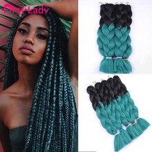 1pc Ombre Kanekalon Braiding Hair Style Ombre Kanekalon Synthetic Jumbo Braid Hair Afro Twist Braid Hair Extension Freetress