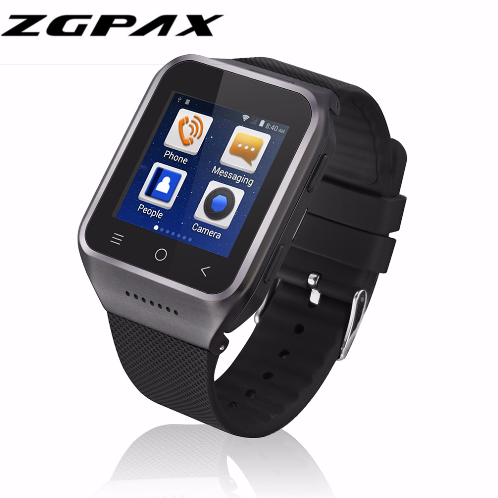 ZGPAX S8 Smartphone Smart Watch Phone Android 4.4 MTK6572 Dual Core 1.5 Inch WIFI GPS 2.0MP Camera 3G WCDMA Bluetooth