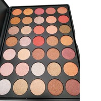 35 kolorów palety cieni do powiek fashion różowy brzoskwini mineralny cień do powiek pigment powder wodoodporna długotrwałe shimmer eyeshadow MOR016
