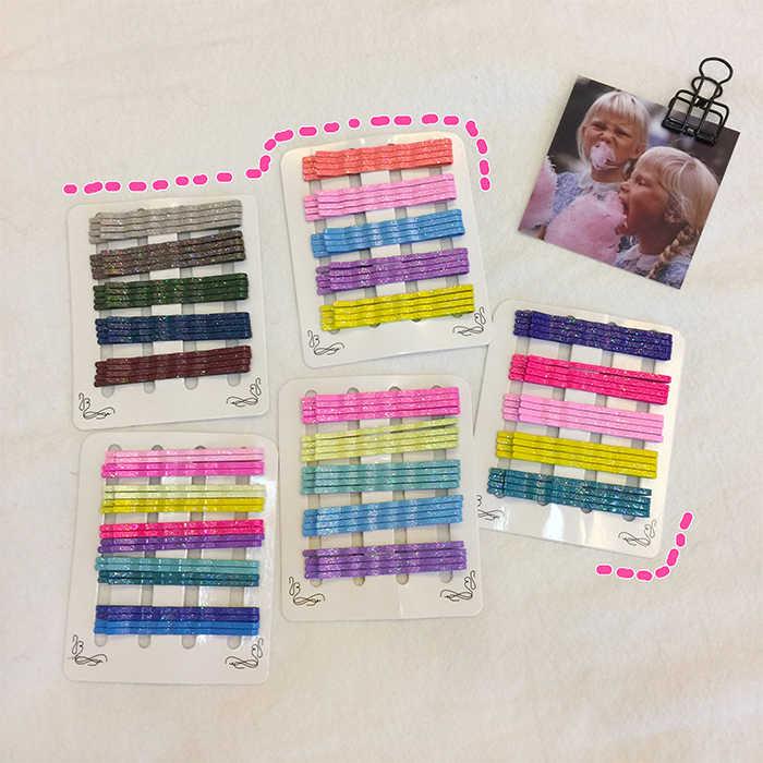 20 шт. женские блестящие цветные заколки для волос для девушек, Кудрявые Волнистые ручки, прическа, Заколки для женщин, стильные аксессуары для волос