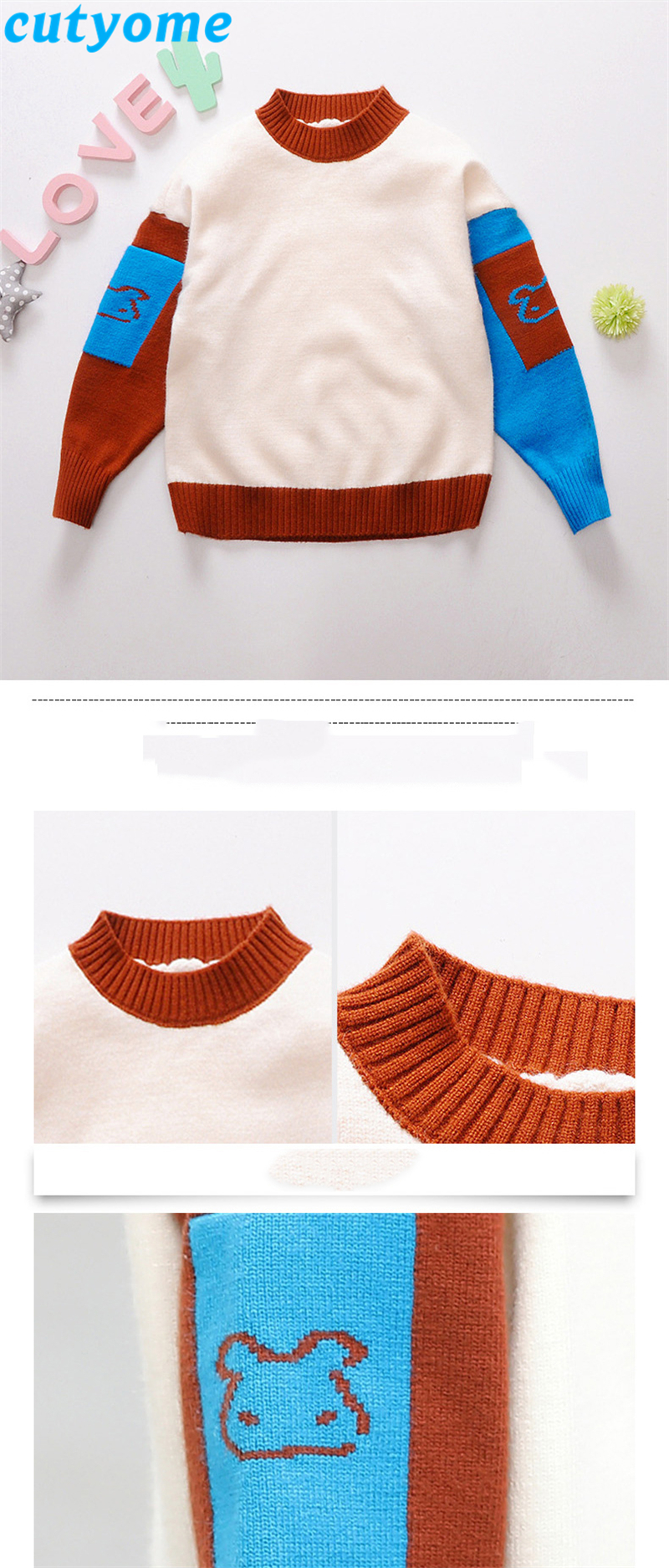 teenage girls patchwork sweater07