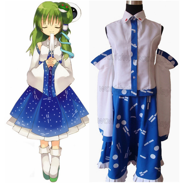 Free Shipping Touhou Project Kochiya Sanae Cosplay Costume and Wig Custom  Made for Halloween and Christmas-in Boys Costumes from Novelty & Special  Use on ...