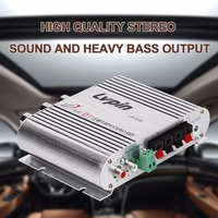 Mini HiFi Sliver 12V 20W CD MP3 Radio Car Auto Motor Boat Home Audio Stereo Bass