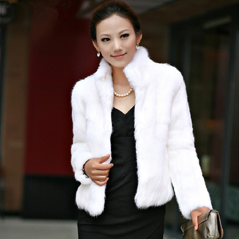 Plus Size 3XL Office Women Faux Fur Coat Women Long sleeves Slim Warm Fur Jacket Imitation Grass Faux Fur Coat Faux Fur Coat faux fur coat