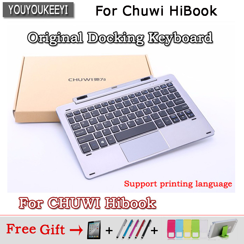 Docking Keyboard for Chuwi Hibook 10.1 inch Tablet PC With holder Keyboard with 2 standard USB port,Free Engraving languages original chuwi hibook magnetic docking keyboard gray