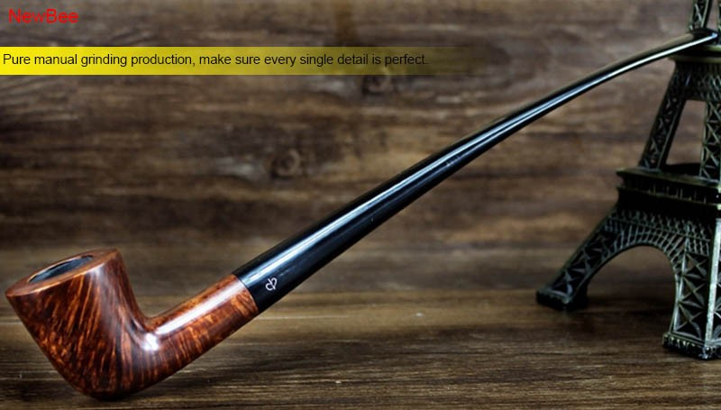 5 imported briar wood pipes handmade long stem pipes for reading flavored tobacco pipes