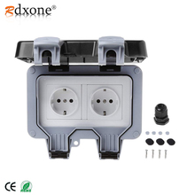 Rdxone 16A Waterproof Outdoor Outlet IP66 Weatherproof Wall Power Socket for bathroom waterproof wall socket