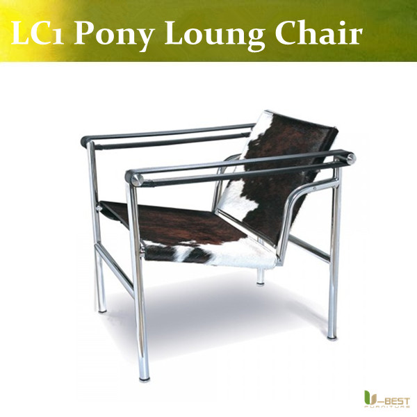 U-BEST Le Corbusier Style LC1 Basculant Sling Chair - Pony Hide,LC1 Sling chair le corbusier the city of tomorrow pr only