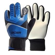 Детские износостойкие Нескользящие Перчатки вратарские перчатки футбольные перчатки вратаря Professional football Goalkeeper Double Protec