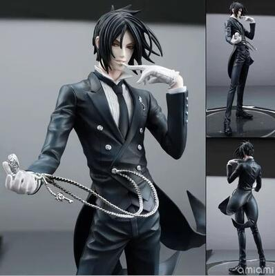 20cm Black Butler Sebastian Michaelis Anime Doll Cartoon Figure PVC Collection Model Toy Action Figure For Friends Gift