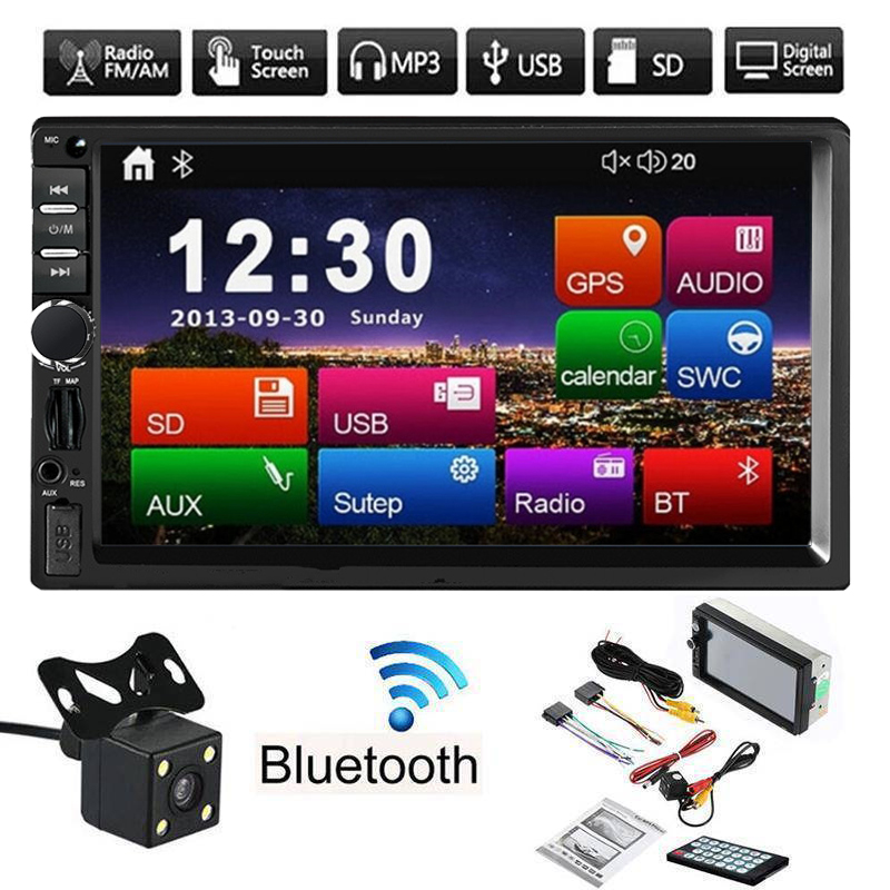 Car Radio Bluetooth USB Autoradio MP5 Player 2 Din Car Stereo Central Multimidia 7 inch Touch Screen Support Rear View Camera car mp5 player stereo bluetooth radio car audio hd 7 inch 2 din touch screen autoradio handsfree support rear view camera player