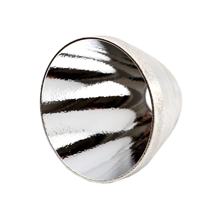 Volhardend Aluminium Smo Glad Op Sinaasappelschil Reflector Met Led Stator Isolatie Pakking Spacer Voor Jkk03 Jkk70 Xhp70 Xhp70.2 Zaklamp