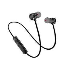 Promo offer Magnetic Bluetooth Stereo Bass In Ear Earphone Sport Running Handsfree Wireless Earphones With Microphone For Phone Headset