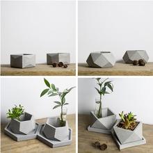 Geometric Flowerpot Mold, Cement Pot Silicone Gypsum Succulent Planter Concrete Mould