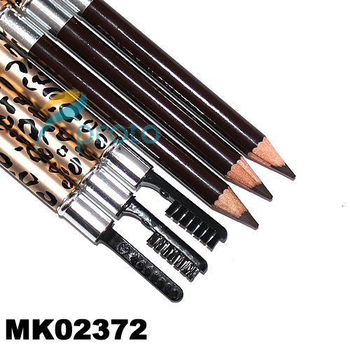 New Arrival! 12pcs/Lot Cosmetics Waterproof Eyeliner Pencial with brush  wholesale + Dropshipping MK02371