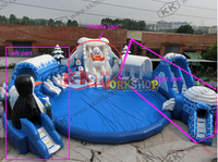 kids fun city inflatable playground Water slide on large aquatic playground Ice and Snow World Water Park