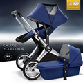 Babysing Luxury 2 in 1 Highview Stroller for 0-6 Years Old Kids, Bidirectional Foldable Baby Carriage, SUV Suspension Pushchair