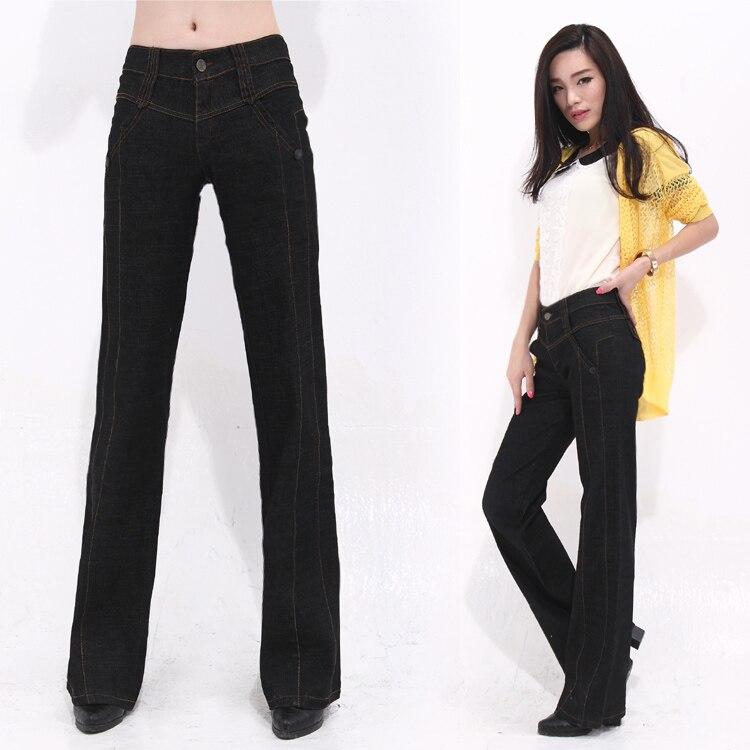 ФОТО Women JeansNew Fashion Female Pants Wide Leg Casual Jeans Loose Plus Size Women Trousers