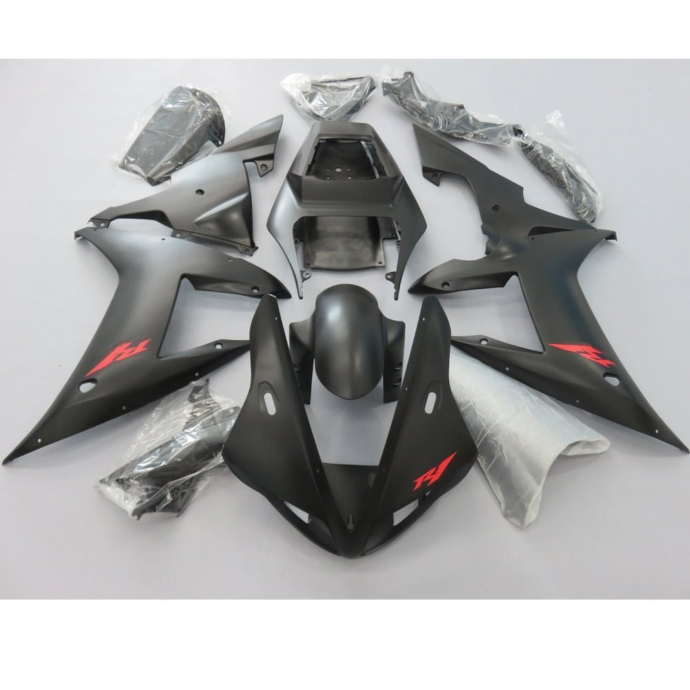Motorcycle Full Fairing Kit Bodywork For Yamaha YZF R1 YZFR1 YZF-R1 2002 2003 02 03 Injection Molding Fairings Black UV Painted