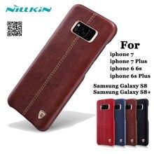 Для Apple iPhone 6 S Plus 7 plu s ca s e Оригинал Nillkin Englon кожаный чехол ca s e S для SAM S Унг S8 + задняя крышка Встроенный железной shell