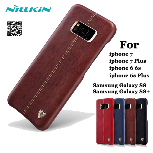apple 7 plus case. for apple iphone 6s plus 7 case original nillkin englon leather cover cases samsung f