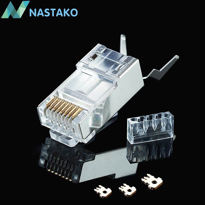 nastako 10 50 100x cat6a cat7 rj45 connector cat 7 crystal. Black Bedroom Furniture Sets. Home Design Ideas