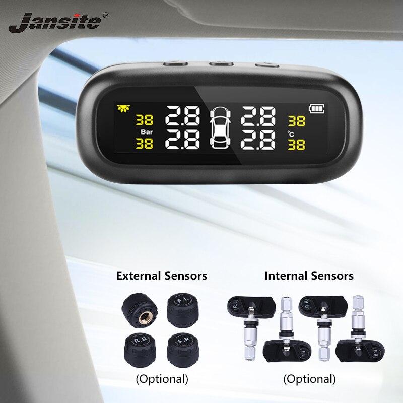 Jansite Solar TPMS Car Tire Pressure Alarm font b Monitor b font System Display Intelligent Temperature