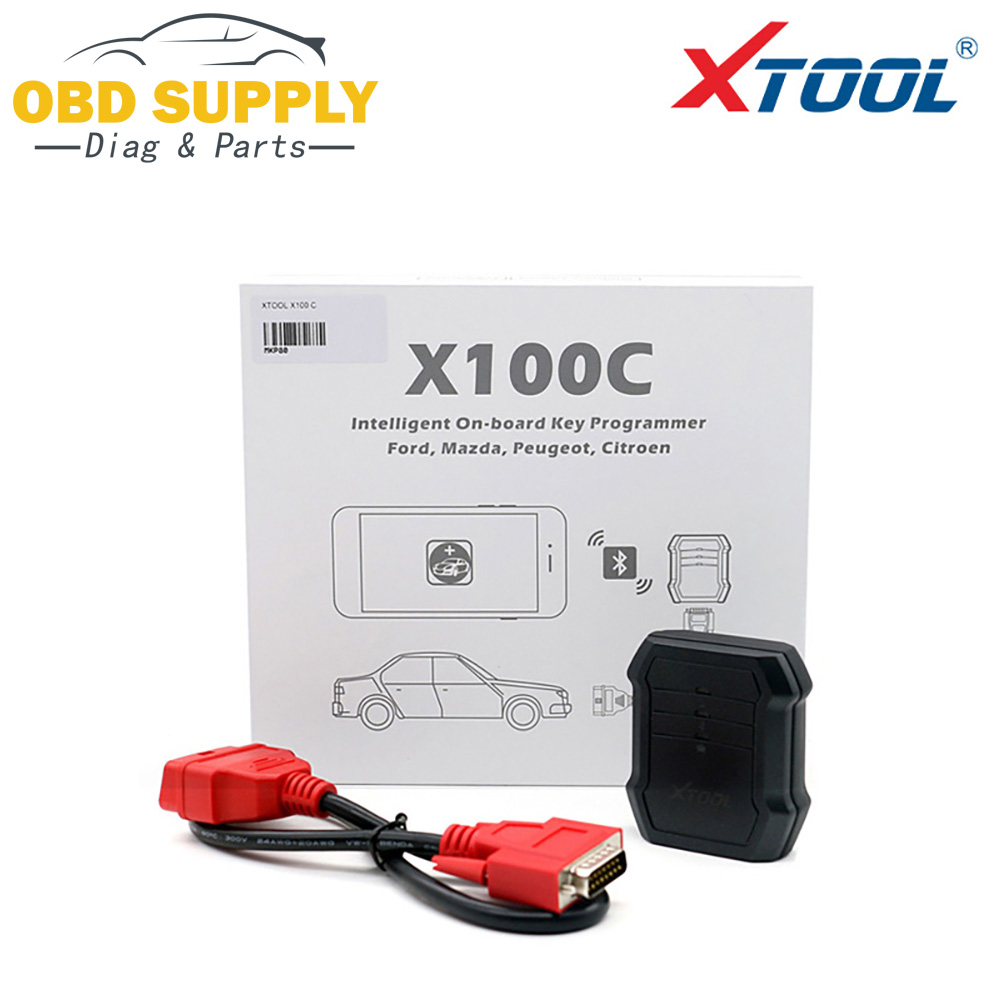 XTOOL X100C Auto Key Programmer for Ford/Mazda/Peugeot/Citroen 4 in 1 pin code reader Xtool X100C for Android IOS obdstar f108 psa pin code reading and key programming tool for peugeot citroen ds f108 newly add k line