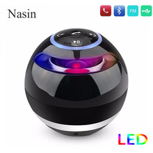 Nasin Round Wireless Bluetooth Speaker Portable Subwoofer w Mic Support TF Card USB MP3 FM AUX Hands free Calling For Smartphone