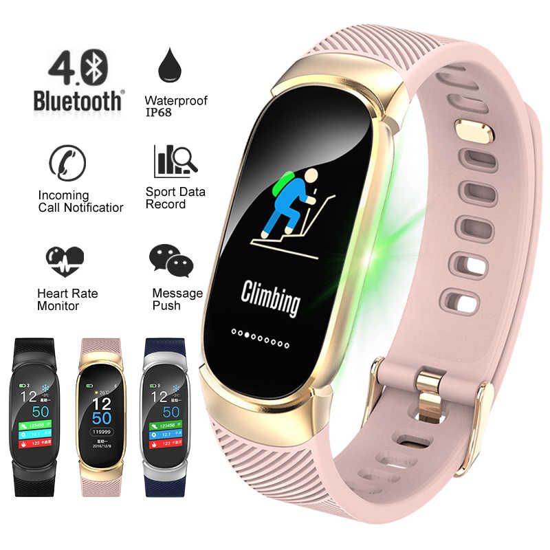 LIGE Smart Bracelet Women IP67 waterproof Fitness Tracker Heart Rate Monitor Pedometer Watch Sport Smart watch For Android ios