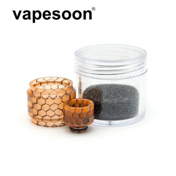 coloful replacement pyrex snake resin glass tube with drip tip for Smok TFV8 Baby Tank Atomizer bulb glass 6 colors 1 set