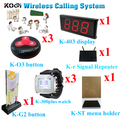 Sistema de llamada sin hilos señal Repeter botón de llamada restaurante Wristhand transmisor de localización conjunto