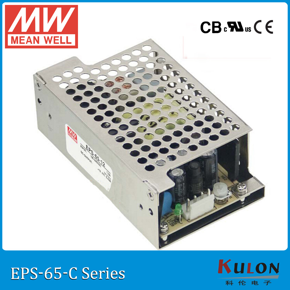 Meanwell EPS-65 single output PSU ac dc Enclosed Power Supply 35W 3.3V 5V 7.5V 12V 15V 24V 36V 48V 8A 3A mini size цена