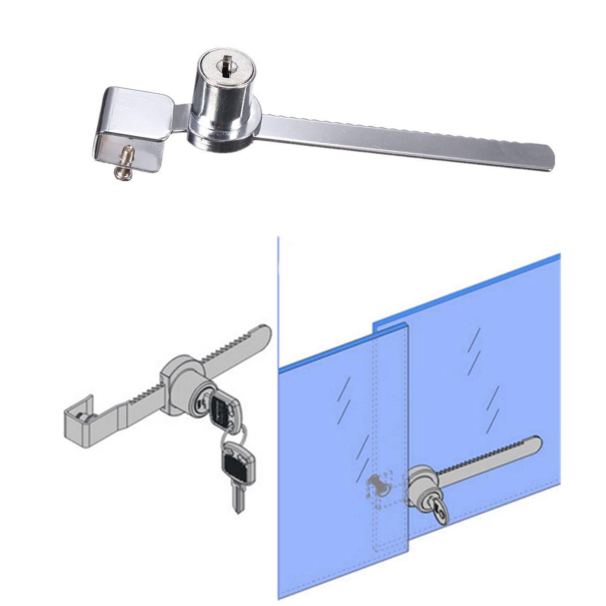 2 Keys +Keyed Alike Display Case Showcase Lock Sliding Glass ...