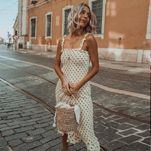 2019 Elegant England Women Dress Fashion Dots Printed Summer Strapless Sexy Ruffles Femme