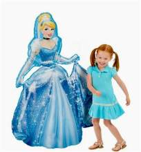 93*55cm Large Belle Cinderella Snow White Elsa Princess Foil Balloons Baby Birthday Party Decoration Helium Balloons kid gift(China)