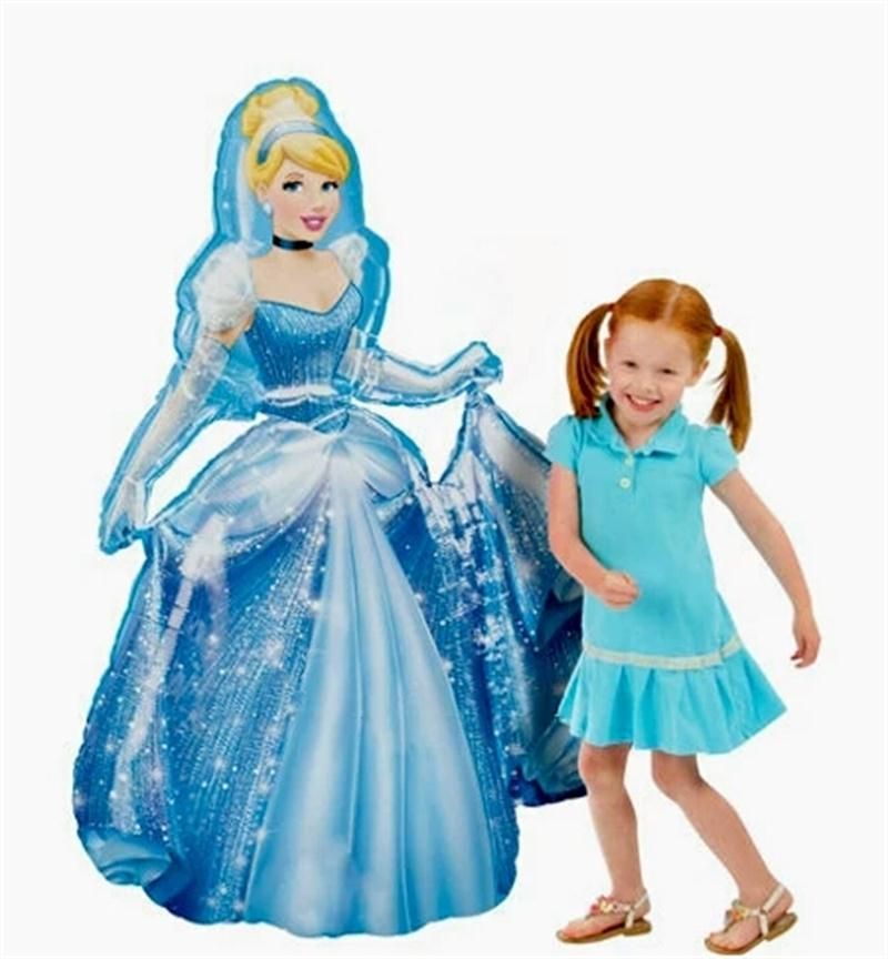 93*55cm Large Belle Cinderella Snow White Elsa <font><b>Princess</b></font> Foil Balloons Baby Birthday <font><b>Party</b></font> Decoration Helium Balloons kid gift image