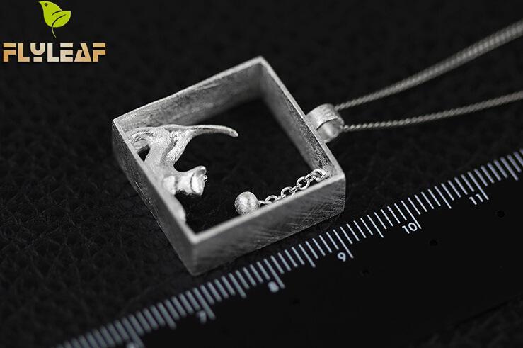 Flyleaf 100% 925 Sterling sølv katte halskæder & vedhæng til - Mode smykker - Foto 5