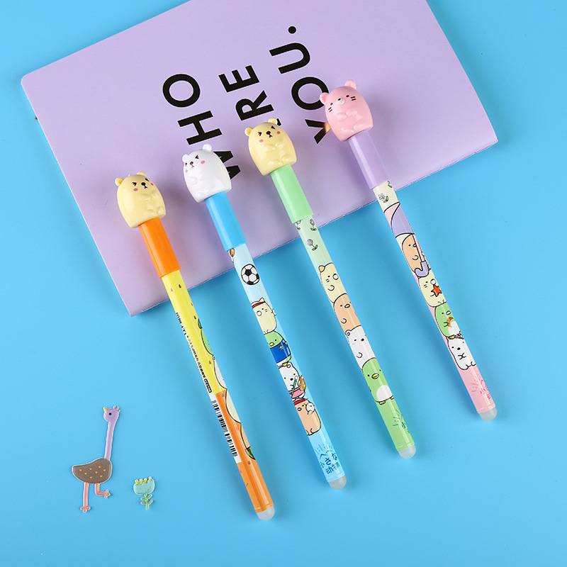 Cartoon Sumikko Gurashi Blue Ink Gel Pen Signature Erasable Pen Escolar Papelaria School Office Supply Promotional 4 pcs pack novelty cute my neighbor totoro gel ink pen signature pen escolar papelaria school office supply