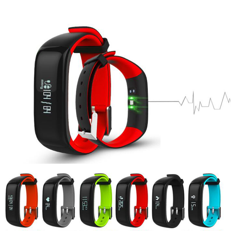 bilder für P1 Smartband Uhren Blutdruck Bluetooth Smart Armband Pulsmesser Smart Armband Pk xaomi miband mi band 2